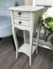 Slim Bedside Table Antique Furniture Stand Small Vintage Cabinet French Side End