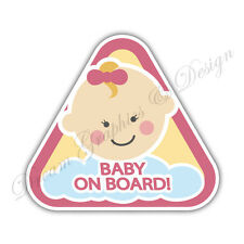 Baby on Board Child Full Color Adhesive Vinyl Sticker Window Car Bumper #058