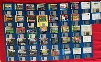 Job Lot of 42 Vintage Amiga Floppy Discs  Games/Programs etc.