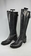 NERO Giardini Boots Biker Style Riding Real Leather Black EUR Size 38 UK 5 Zip