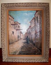 "1931 Rare ""Grete"" Kuhn Oil Over Burlap Canvas Moroccan Impressionistic Painting"
