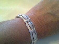 Beautiful Crown Trifari Silver Hinged Bracelet