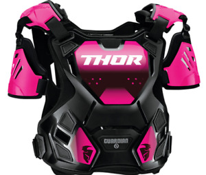 Thor Women's Guardian Roost Deflector Chest Protector - Pink/Black