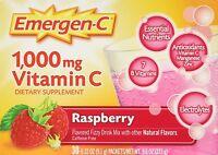 Emergen C 1000 mg Vitamin C Flavored Fizzy Drink Mix 30 Pack Raspberry 30 Ea