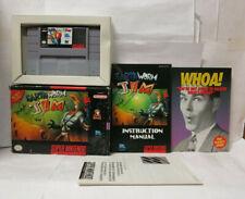 Earthworm Jim (Super Nintendo SNES) Complete CIB