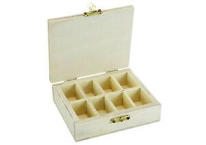Kleine Sortimentsbox aus Holz - 8 Fach Sortierbox  Box für Kleinteile - (B-Ware)