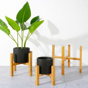 Wood Flower Pot Bonsai Rack Holder Home Table Display Plant Stand Shelf Artistic