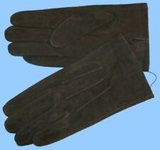 NEW MENS size 8.5 or Medium GREEN PIG SUEDE LEATHER UNLINED GLOVES shade10513