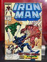 Iron Man #229 MARVEL COMICS 1988 SIGNED BOB LAYTON