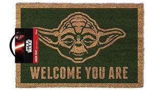 Official Star Wars Yoda Welcome You Are Doormat 100% Coir Rubber Door Mat 85052