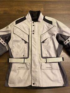 FIRSTGEAR KILIMANJARO Men's Motorcycle Armored Grays Black Jacket Coat Large