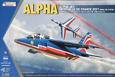 Kinetic Model - 1/48 Alpha Jet Patrouille De France 2017 (2 Pack) - K48064