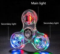 Fidget Hand Spinner LED Glowing 20 Light Patterns EDC ADHD Stress Relief