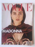 British VOGUE Magazine February 1989 Madonna Cover By Herb Ritz, Cindy Crawford