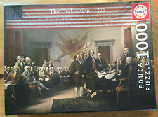 Signing the Declaration of Independence Puzzle  By Educa 1000 Piece Puzzle