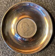 1965 Sir Winston Churchill Commemorative Crown Sterling Silver Pin Dish