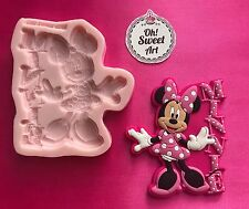 MINNIE MOUSE PINK DRESS silicone mold fondant cake  Disney toppers wax FDA
