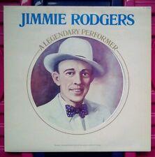 Jimmy Rodgers. A Legendary Performer vinyl LP record.