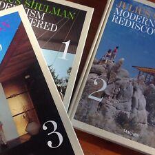 Signed! JULIUS SHULMAN Modernism Rediscovered, 3 Vol. Taschen 2007 Hardcover