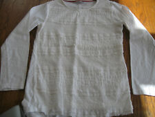 Girls cream lace fronted patterned top, Matalan 8-9 years