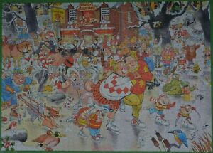 "FALCON ""CHRISTMAS ON ICE"" 1000 PIECE JIGSAW IN COMPLETE CONDITION L@@K!"