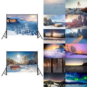 Winter Snow Photography Background Cloth Photo Backdrop Props Decor GAE1 ZAE1