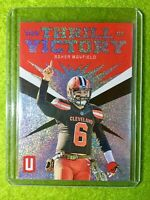 BAKER MAYFIELD PRIZM INSERT CARD JERSEY #6 REFRACTOR BROWNS SP 2019 Unparalleled