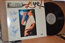 JONATHAN EDWARDS: LIVE; 1982 CHRONIC 1001 MINT- AUTOGRAPHED LP; CHERYL WHEELER