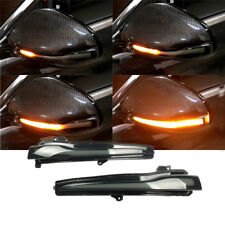 Sequential LED Black Mirror Turn Signal Lamp For BENZ C E S CLASS W205 W213 W222