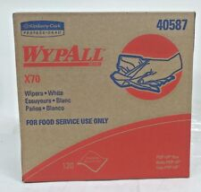 """PK10, Kimberly-Clark, WypAll 40587, X70, Food Service Only  Pop-Up Box """" White"""""""