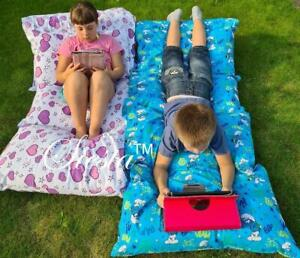 Kids Floor Lounger Seats Pillow Cover Soft Luxurious Fabric Perfect Cushion Fun