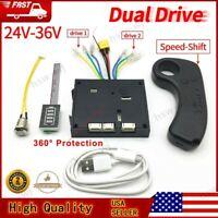 10S 36V Electric Skateboard Controller Longboard + Remote + Dual Motors ESC Kit