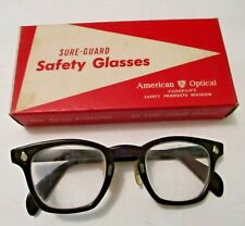 NOS VINTAGE AMERICAN OPTICAL SURE-GUARD CLEAR SAFETY GLASSES IN BOX ~ STEAMPUNK