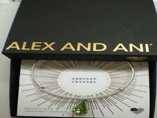Alex And Ani August Peridot Charm Bangle Bracelet Teardrop Raf Silver Nwtbc