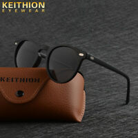 KEITHION TR-90 Polarized Men Women's Sunglasses Round Driving Outdoor Eyewear