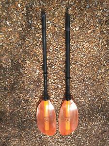 Werner Cranked / bent shaft adjustable Kayak Paddle Orange 2.2m