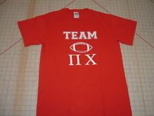 "PI CHI GREEK LETTERS Fraternity SMALL TSHIRT RUSH PLEDGE SINGLE ""O"" SPY FRAT EUC"