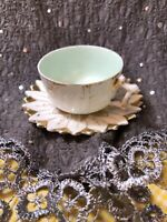 Antique Tea Cup And Saucer white & Gold
