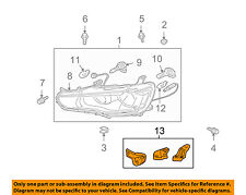 MITSUBISHI OEM 08-17 Lancer Headlamp-Front Lamps-Repair Kit Right 8301B174