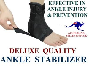 DELUXE QUALITY ANKLE STABILIZER SUPPORT BRACE SPRAIN INSTABLITY