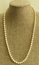 Vintage 14 kt Gold Jade Clasp Akoya Japanese Saltwater Cultured Pearl Necklace.