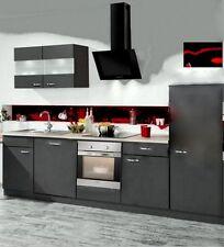 Einbauküche MANKAFIT 8 Anthrazit Küchenzeile 280 cm o. E-Geräte / Top-Qualität !