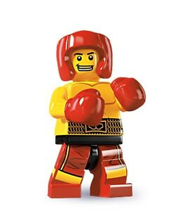 Lego minifig series 5 Boxer with boxing gloves belt and helmet - suit city sets