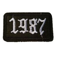 1987 numbers year biker jacket Iron On Patch Sew on Embroidered New