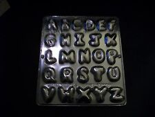 NEW 26 Cavity Tuft ALPHABET Letter Chocolate Candy Fondant Clay Plaster Mold