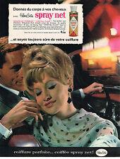 PUBLICITE ADVERTISING  1963   HELEN CURTIS   SPRAY NET