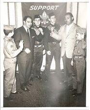 1961 Real Photo ROCKY MARCIANO JOE LOUIS Boxing Greats BOY SCOUTS NY Daily News