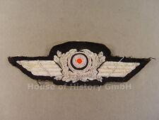 62837 Luftwaffe: Schirmmützenschwinge für Offiziers Schirmmütze, handgestickt