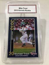 Mike Trout 2010 Kernels Rookie. Excellent Condition.