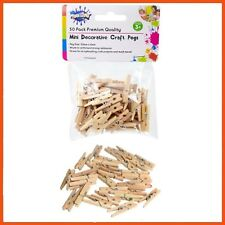 1200 x WOODEN MINI CRAFT PEGS 3cm   Photograph Line Craft Weddings Baby Showers